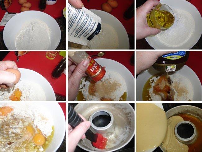 Receta de bizcocho de miel y aceite de oliva cocido al vapor