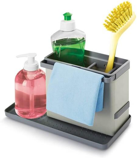 Organizador de productos de limpieza para la cocina