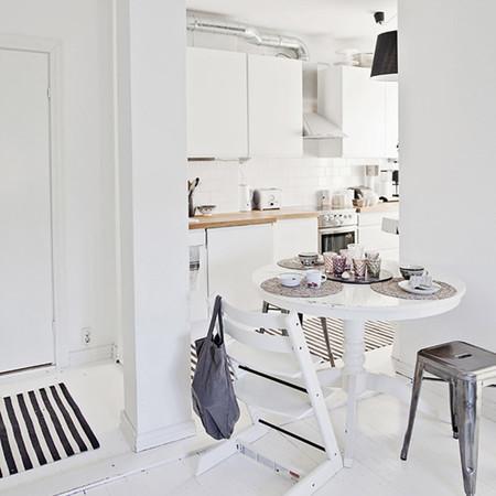 Cocina con alfombra