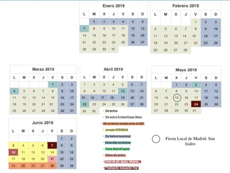 Calendario Escolar Madrid