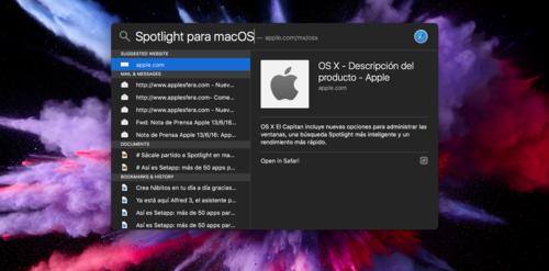 Sácale partido a Spotlight en macOS: 12 atajos de teclado con los que ser el más veloz