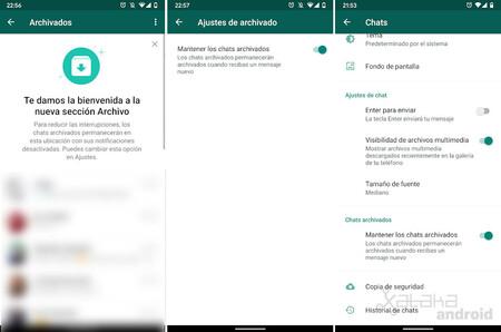 La nueva sección 'Archivos' vista en WhatsApp Beta