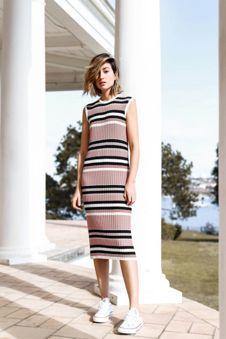 Chronicles Of Her Stripe Midi Dress Myer Converse