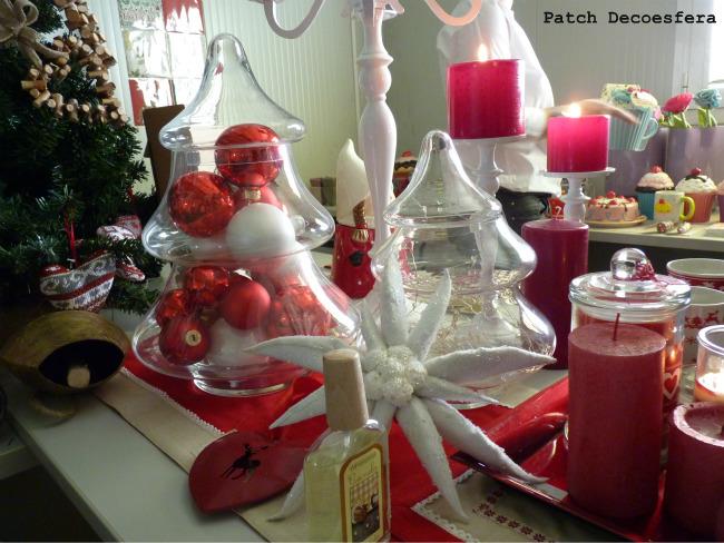 Decoración navideña en rojo de Verdecora