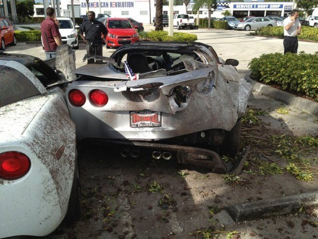 Corvette Accidente 1