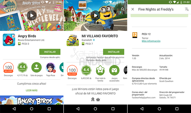 Google Play Pegi