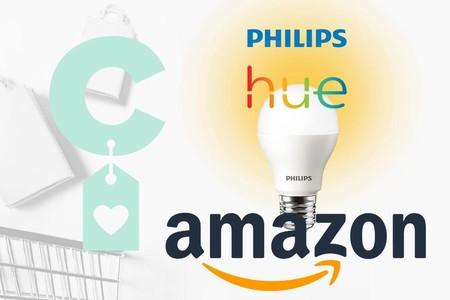 Ofertas en iluminación LED e inteligente Philips Hue en Amazon: bombillas, puentes, interruptores o enchufes inteligentes a precios bajos