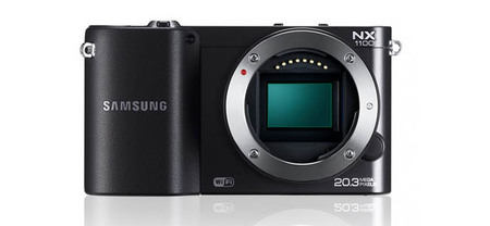 Samsung NX1100- Vista frontal