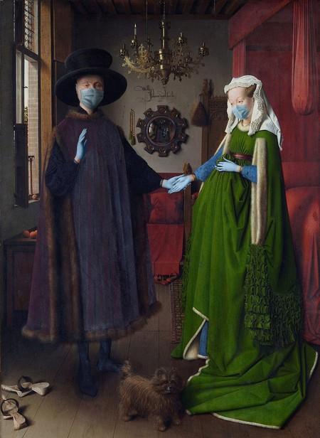Retrato De Giovanni Arnolfini Y Su Esposa Jan Van Eyck