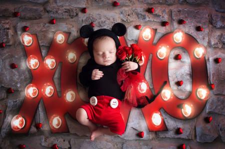 Sesion Fotos San Valentin Bebes Minnie Mickey 3