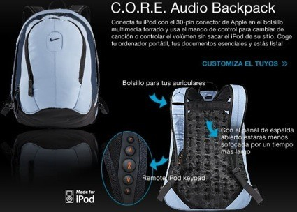 C.O.R.E. Audio BackPack y zapatillas a juego con tu iPod Nano, de Nike