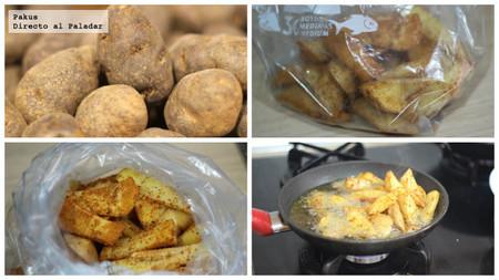 patatas de guarnición en gajos