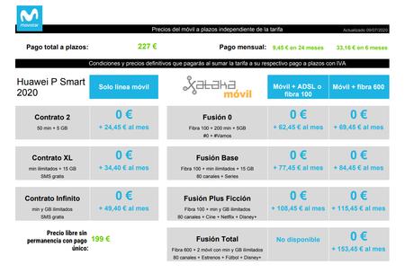 Precios Huawei P Smart 2020 Con Pago A Plazos Y Tarifas Movistar