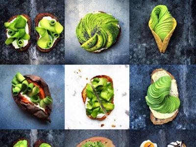 Espectacular arte visual en recetas con aguacate