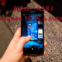 La Build 14383 llega por sorpresa para los Insiders dentro del anillo rápido en Windows 10 para PC y Mobile