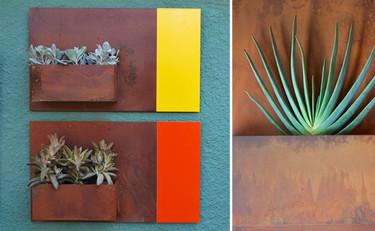 Maceteros de pared inspirados en Rothko