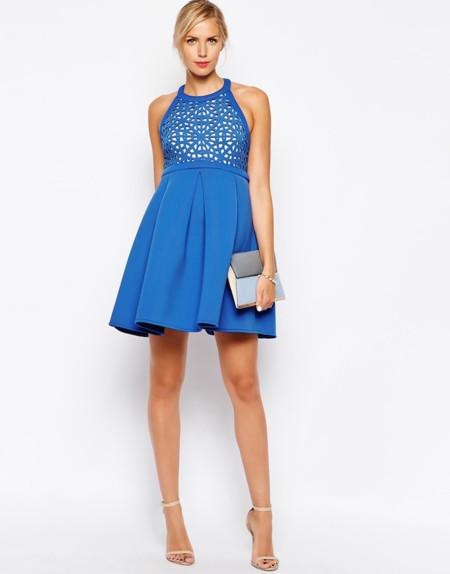 Vestido Premamá Azul Asos Maternity