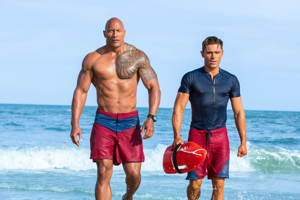 The Rock Zac Efron