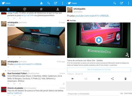 Twitter activa la previsualización de imágenes y vídeos en sus clientes móviles