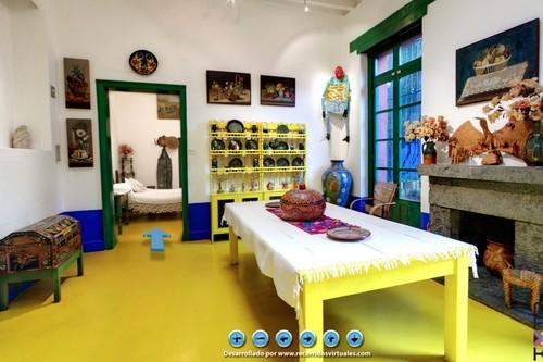 Recorre la Casa Azul de Frida Kahlo en la visita virtual más colorida