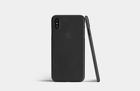 carcasa dura iphone x transparente ultra fina