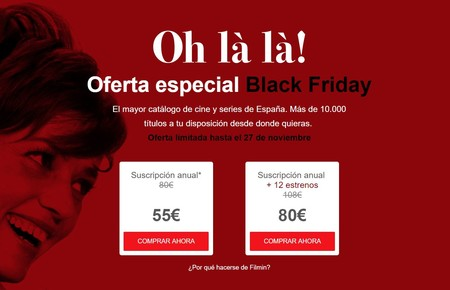 Ofertas Filmin Anual Black Friday
