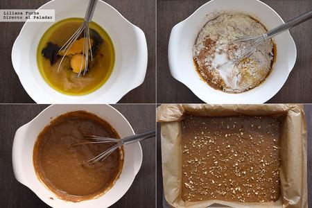 Gingerbread o pan de jengibre de puré de manzana. Pasos