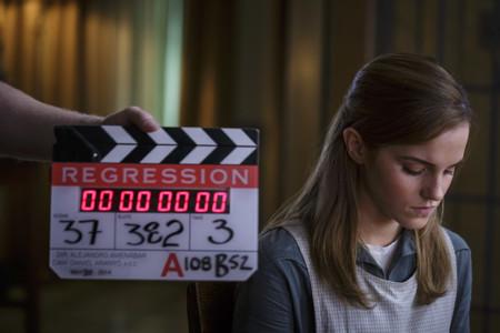 Emma Watson en el rodaje de Regresión