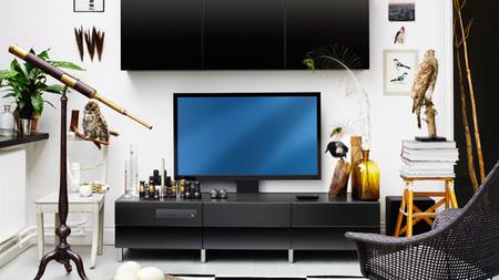 televisión ikea - negra