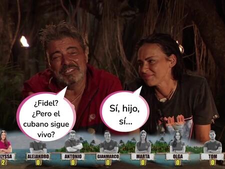 Antonio Canales aclara cuál es su vínculo con Fidel Albiac y Olga Moreno aprovecha para arremeter contra Rocío Carrasco en 'Supervivientes 2021'