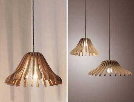 Recicladecoración: lámparas hechas con perchas