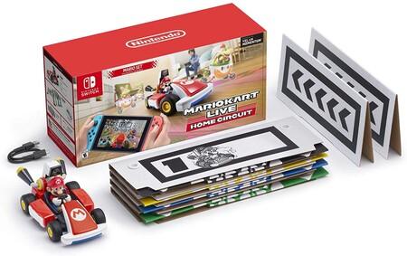 Contenido en la caja de Mario Kart Live Home Circuit para Nitendo Switch