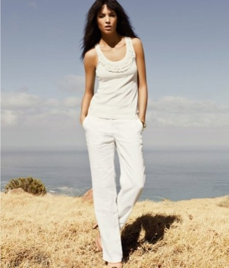 Total look blanco HM Andi Muise