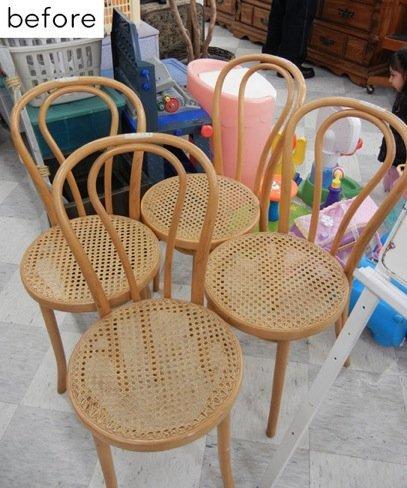 Antes y después: sillas lacadas en amarillo