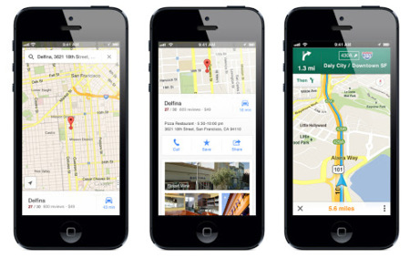 iPhone con Google Maps