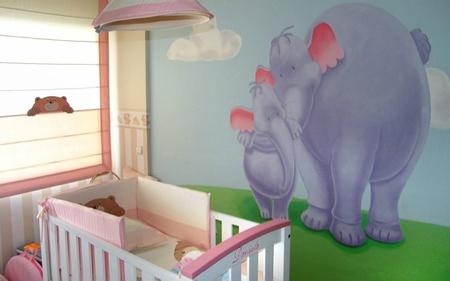 Cómo decorar el suelo y las paredes de la habitación del bebé