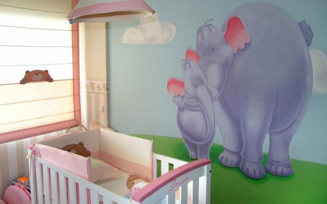 C mo decorar el suelo y las paredes de la habitaci n del beb - Decorar la habitacion del bebe ...