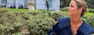 Amelia Bono opta por el combo camisa y pantalón vaquero de Uterqüe más estiloso de la temporada