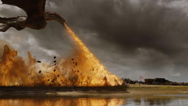 Fotograma de la abanico 'Juego de tronos', inspirada en 'Canción de Hielo y Fuego' de George R.R. Martin'.