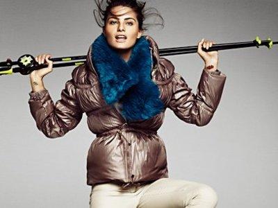 Practica ski con Isabeli Fontana y Mango