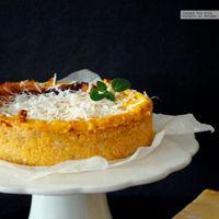 Pastel rústico de calabaza y queso Parmesano. Receta