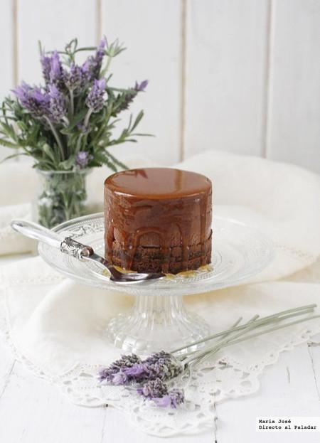 semifrío de chocolate a la miel de lavanda