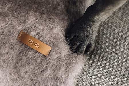 Hanniko Design Customize Grey Kare Dog Blanket Wool Photo 1