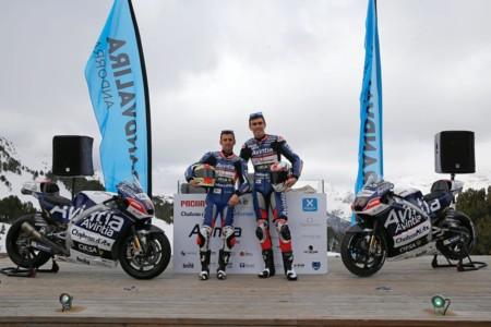 Clavos, nieve y frío. Así ha sido la impactante presentación del equipo Avintia Racing de MotoGP