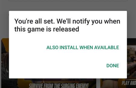 Google Play Store permitirá instalar automáticamente las aplicaciones y juegos con registro previo