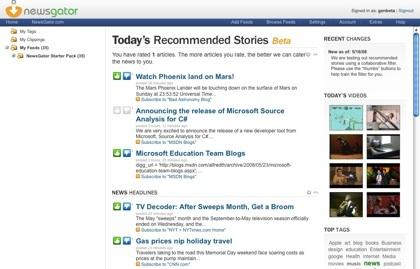 NewsGator lanza recomendaciones de historias en función de la atención de los usuarios