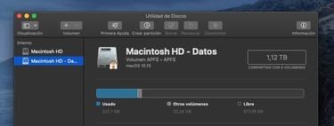 'Macintosh HD - Datos': qué es ese nuevo volumen que ha aparecido en macOS Catalina