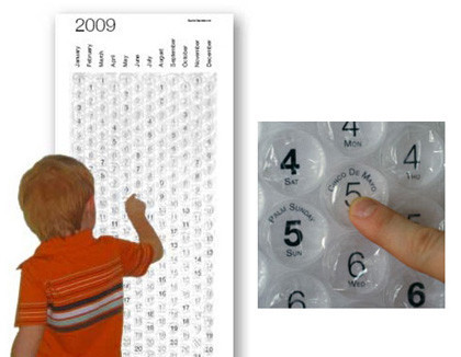 Calendario Bubble, explota tu burbuja diaria