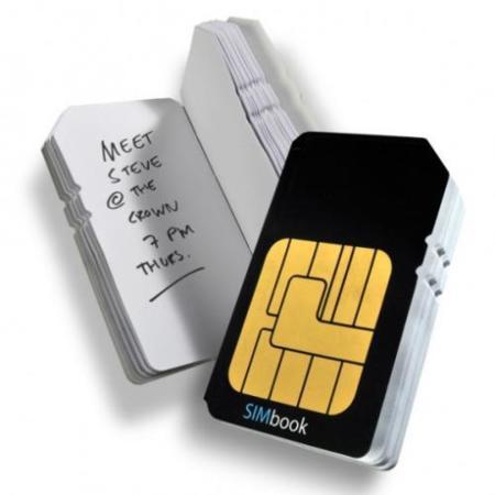 Libretas y agendas con forma de SIM