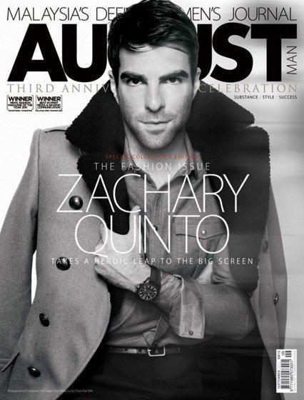 Zachary Quinto, un hombre de portada de revista